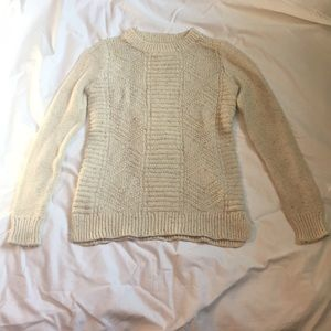 Hollister Small Oatmeal Knit Beige Sweater NWOT